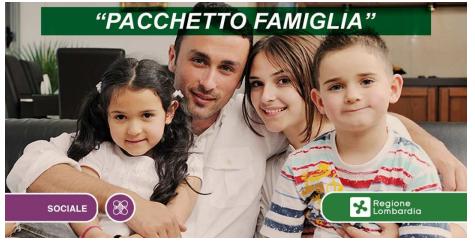 """""""Pacchetto famiglia"""" contributi straordinari per il sostegno alle famiglie nell'ambito dell'emergenza Covid-19"""